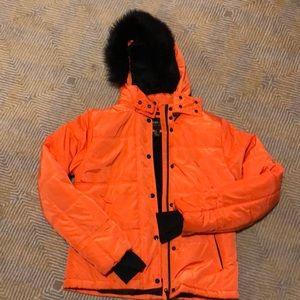 "Orange snow jacket ""sport luxe"""